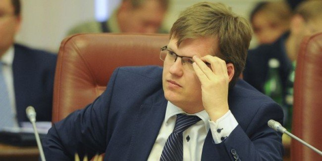 Social Policy Minister of Ukraine Pavlo Rozenko at the cabinet meeting on December 9.