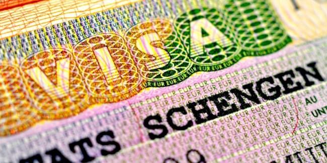 Schengen Visa in passport page