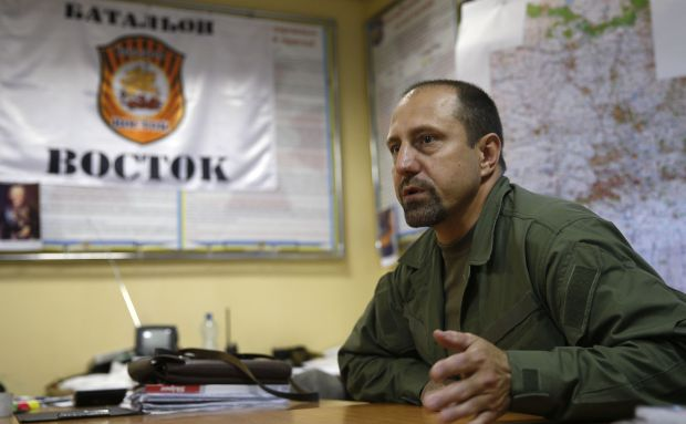 Rebel commander Alexander Khodakovsky of the Vostok Battalion speaks during an interview in Donetsk in this July 8, 2014 file photo. A powerful Ukrainian rebel leader has confirmed that pro-Russian separatists had anti-aircraft missiles of the type Washington says were used to shoot down Malaysia Airlines flight MH17. In an interview with Reuters, Khodakovsky, commander of the Vostok Battalion, acknowledged for the first time since the airliner was brought down in eastern Ukraine on Thursday that the rebels did possess the BUK missile system. He also indicated that the BUK may have originated in Russia and could have been sent back to remove proof of its presence. REUTERS/Maxim Zmeyev/Files (UKRAINE - Tags: TRANSPORT CIVIL UNREST MILITARY DISASTER POLITICS)