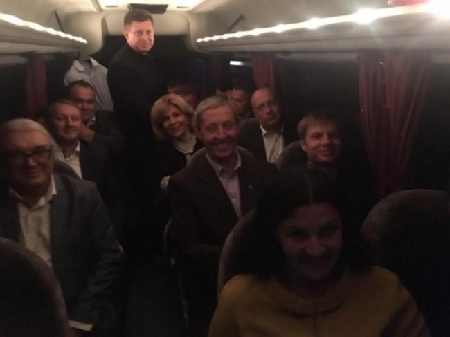 Депутаты фракции БПП по дороге в Залесье