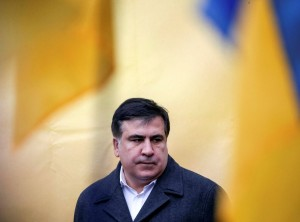 FILE PHOTO: Former Georgian President and former governor of Odessa region Saakashvili attends anti-government and in support of him rally in central Kiev